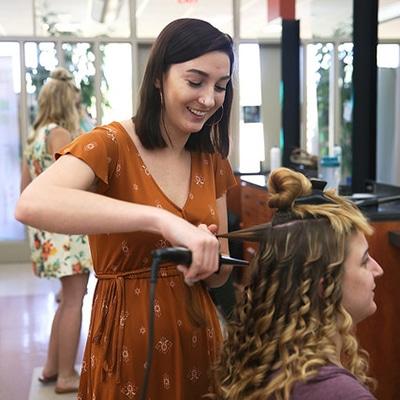 student in salon
