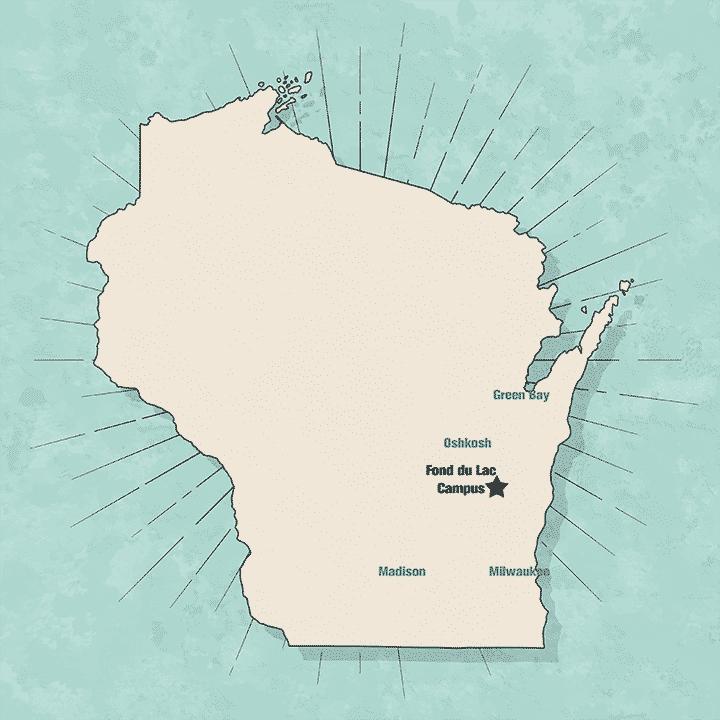 fond du lac wisconsin map